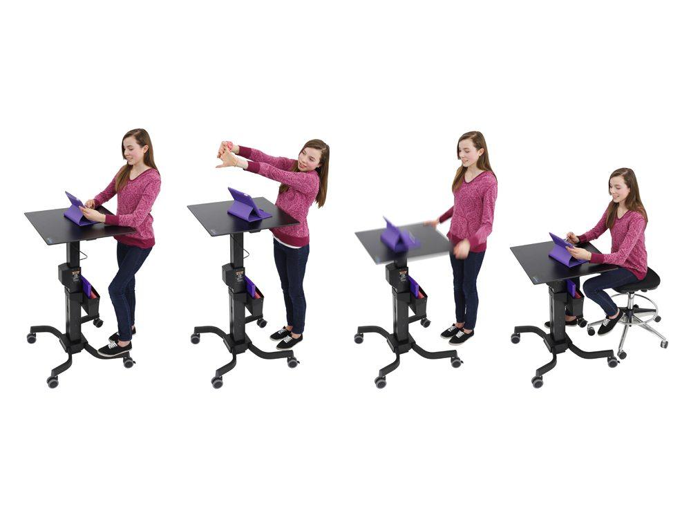 Ergotron LearnFit Adjustable Standing Desk 810mm Height composite