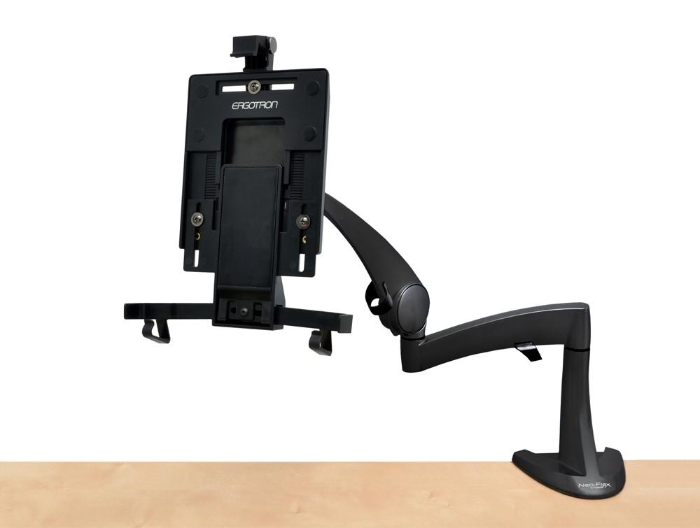 Ergotron neo flex desk mount tablet arm view without tablet