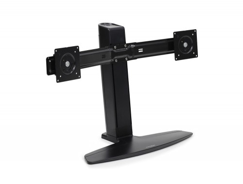 Ergotron neo flex dual LCD lift stand view with no screens