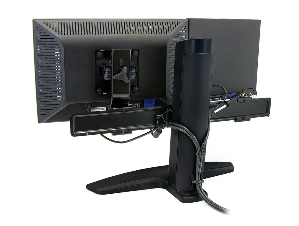 Ergotron neo flex LCD and laptop lift stand back angle