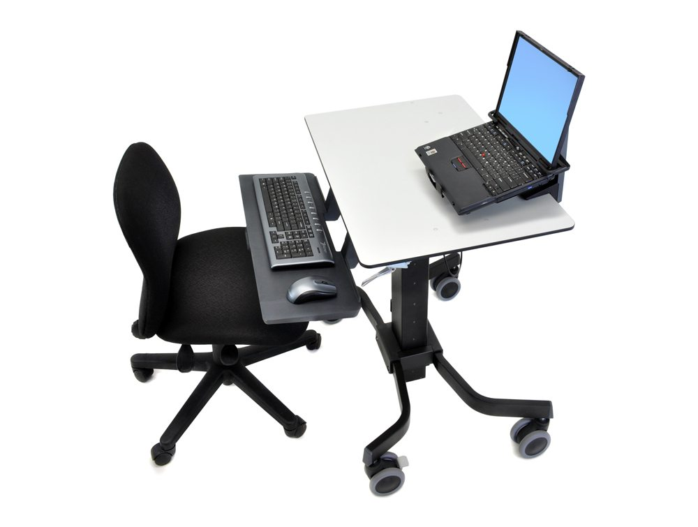 Ergotron TeachWell Mobile Digital Workspace Side Angle