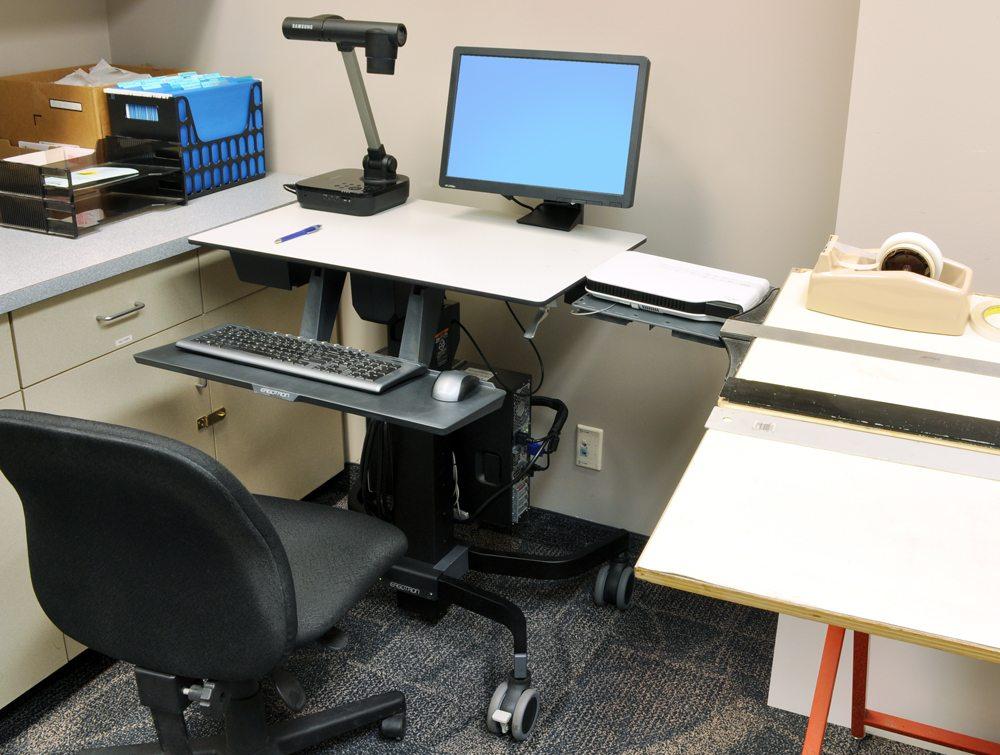 Ergotron TeachWell Mobile Digital Workspace down