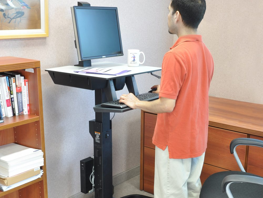 Standing Desk Workfit D Adjustable Height Sit Stand Desk ...