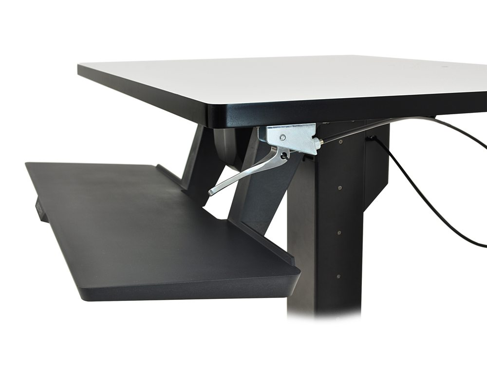 Ergotron WorkFit PD Sit Stand Desk side details