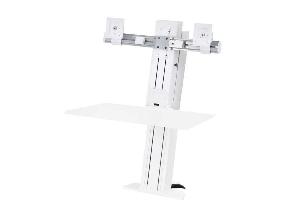 Ergotron WorkFit SR Dual Monitor Sit Stand Workstation with Short Work-surface without monitors