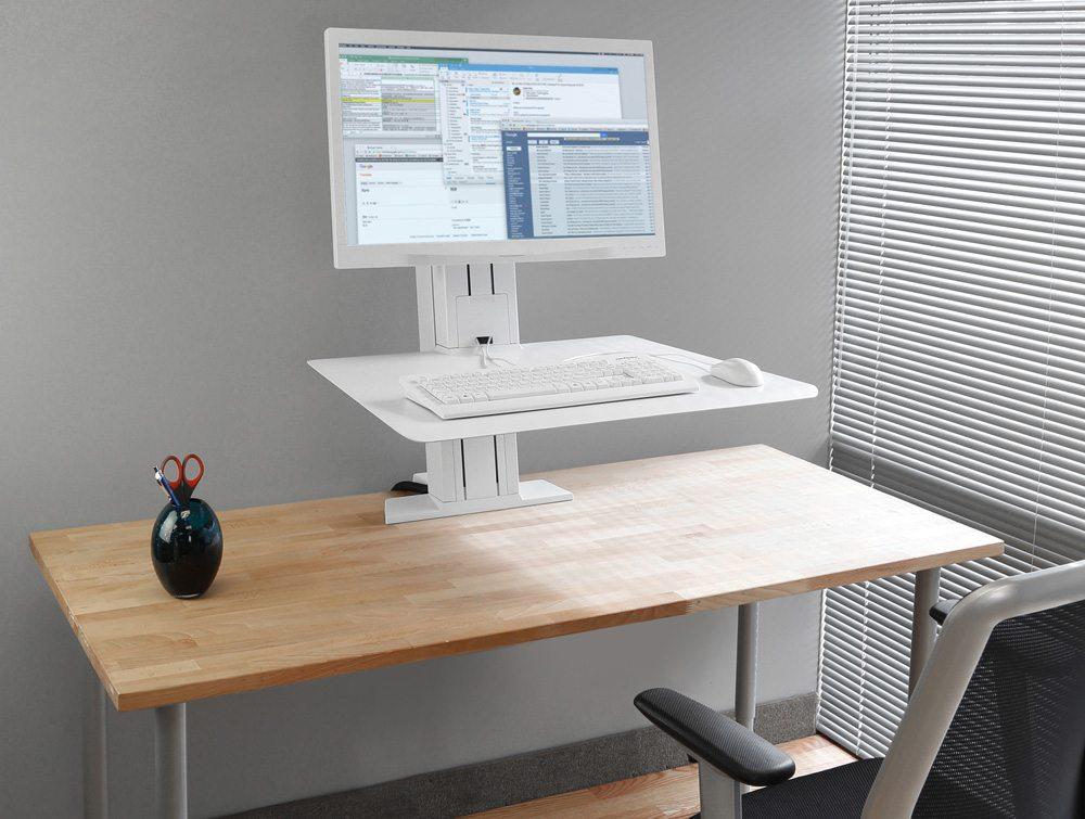 Ergotron WorkFit-SR Sit Stand Workstation in an office