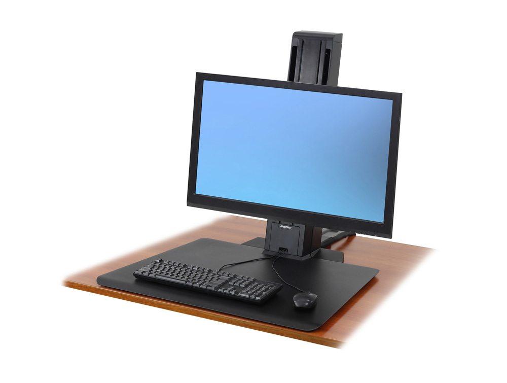 Ergotron WorkFit-SR Sit Stand Workstation in black low