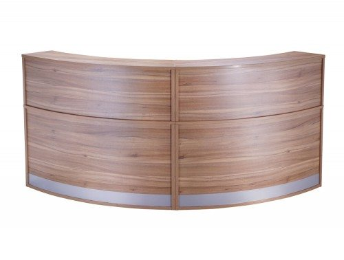 FHR-FHR Elite 2-Section Semi Circle Reception Unit in Walnut