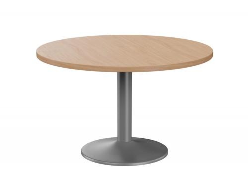 Fermo Executive Round Meeting Table with Trumpet Leg in Beech Anthracite