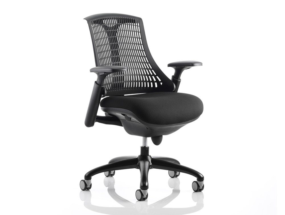 Dynamo Flex Task Operator Chair Black Seat With Arms