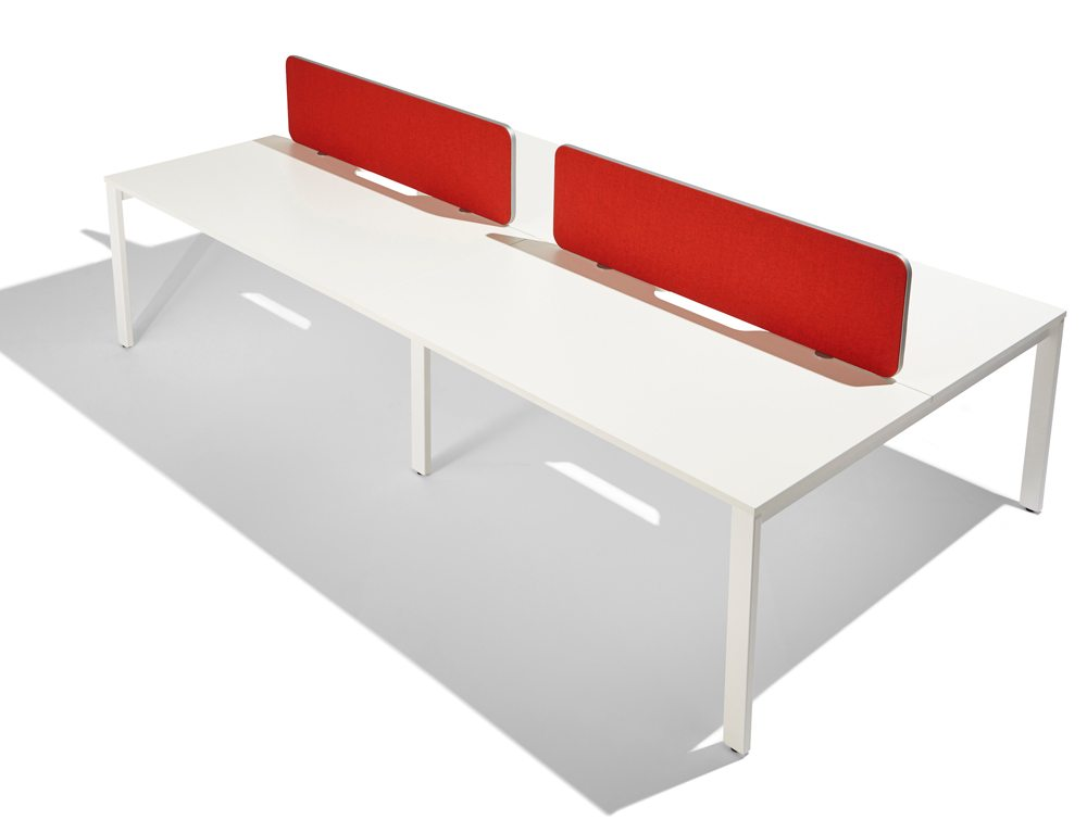 Flite straight desk screen in red