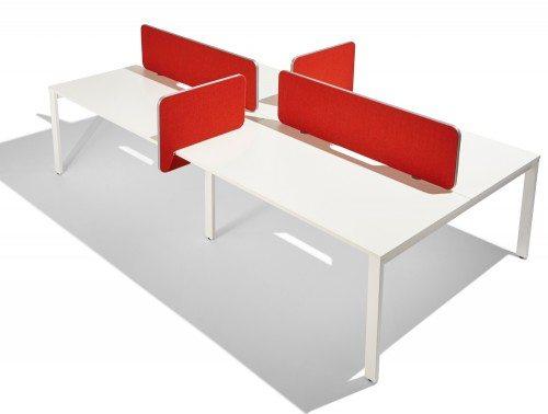 Flite straight desk screen and returns