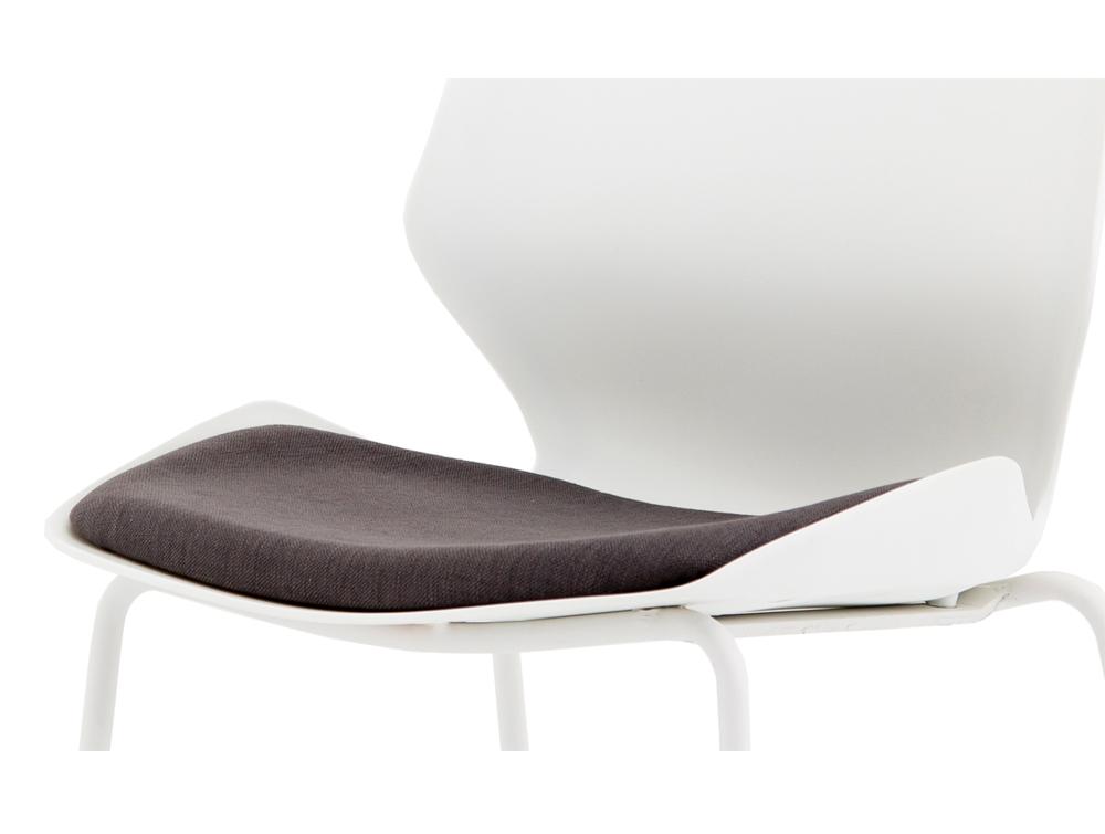 Florence-White-Ergonomic-Four-Legged-Stacking-Chair-Padded-Seat