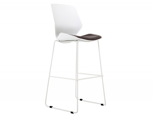 Florence-White-Ergonomic-High-Stool-Backrest-Base-Padded-Seat