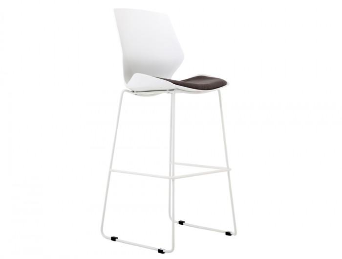 Florence-White-Ergonomic-High-Stool-Backrest-Base-Padded-Seat