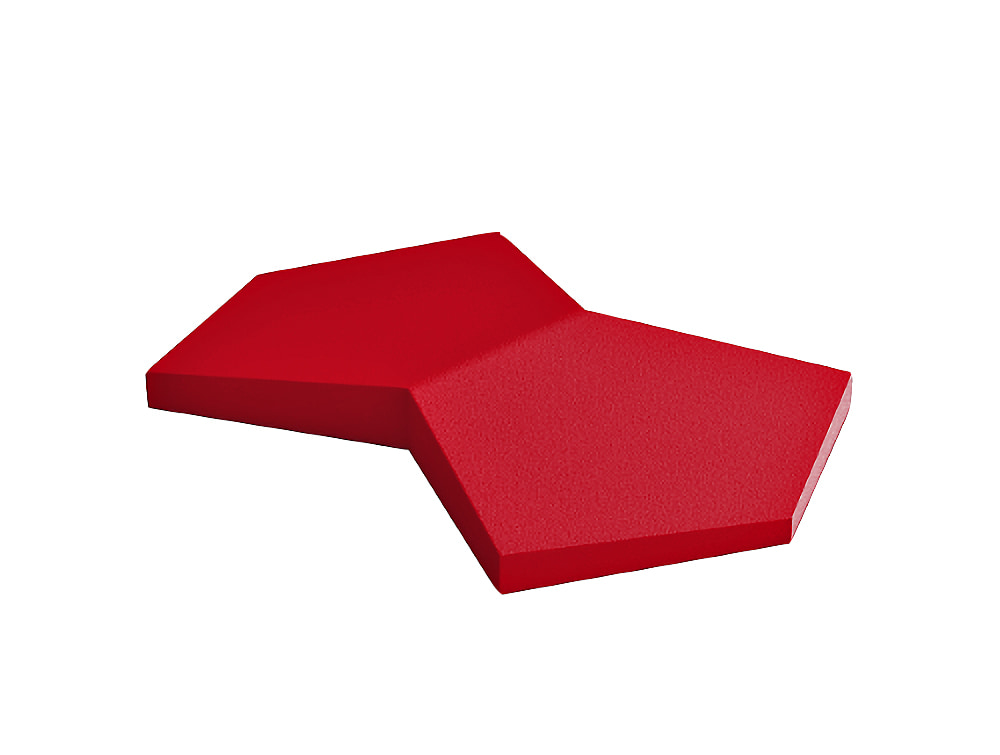 Fluffo Chain Acoustic Panel in Red