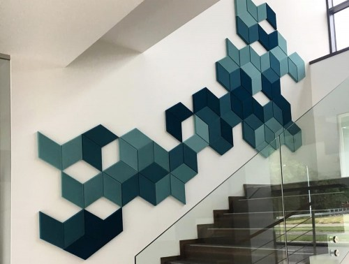 Fluffo Diamond Edge Foam Wall Panel Acoustics Stairs