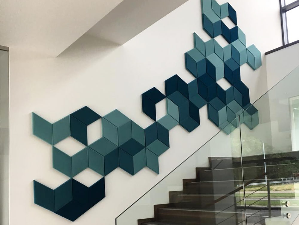 Fluffo Diamond Edge Foam Wall Panel Acoustics Stairs