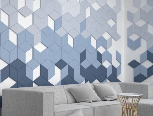 Fluffo Diamonds Edge Soft Wall Panel Acoustic Home Office