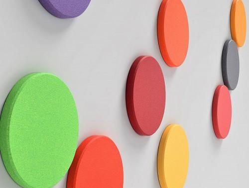 Fluffo Dot Edge Wall Mounted Acoustic Panels Multicolour