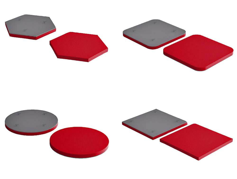 Fluffo Glass Acoustic Panels with Suction Caps Mounting System