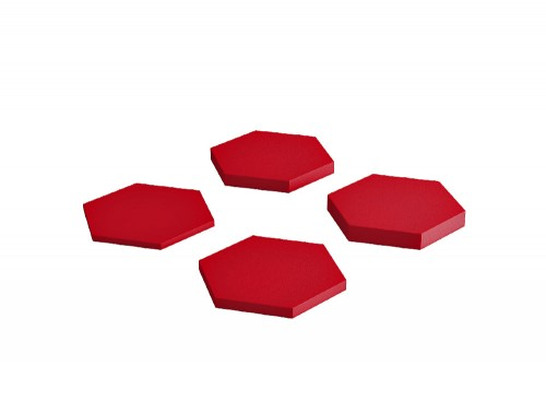 Fluffo Hexa Acoustic Panel in Red