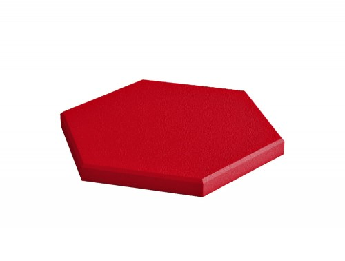 Fluffo Hexa Edge Acoustic Panel in Red