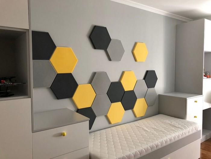 Fluffo Hexa Edge Sound Absorbing Panels Student Accommodation