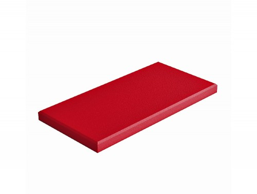 Fluffo Line Edge Acoustic Panel in Red