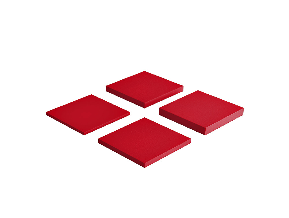 Fluffo Pixel Medium Acoustic Panel in Red