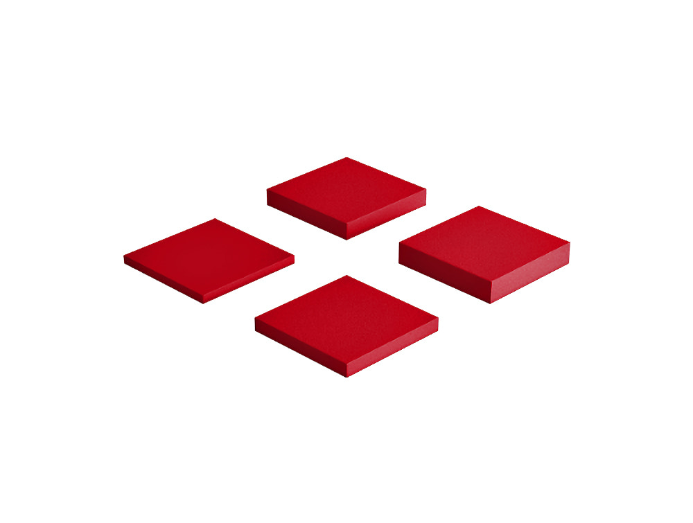 Fluffo Pixel Small Acoustic Panel in Red