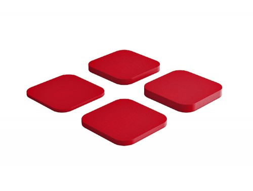 Fluffo Tele Acoustic Panel in Red
