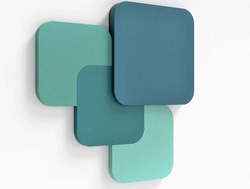 Fluffo Tele Cut Sound Absorbing Panels Blue Green Small Medium Large Mix and Match