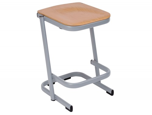Form Cantilever Secondary School Classroom Stool in Beech