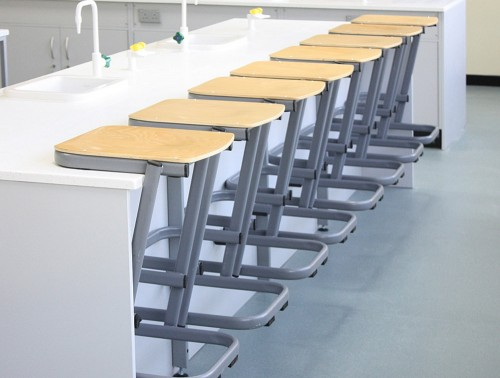 Form Cantilever Secondary School Stool for Lab Classroom Scientific