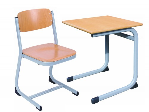 Form Cantilever Single School Classroom Desk with Chair Cantilever Base