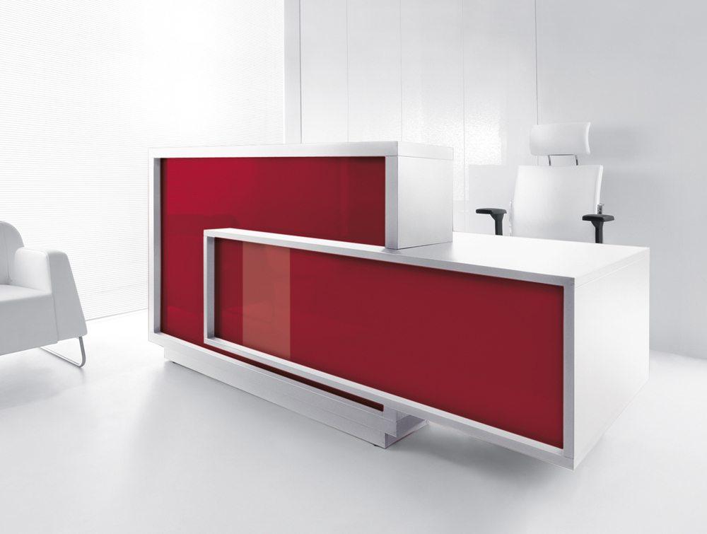 Foro reception desk in red