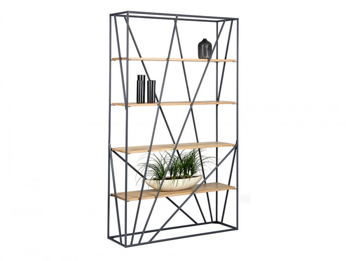 Foundry Rustic Tall Wooden and Metal Palisades