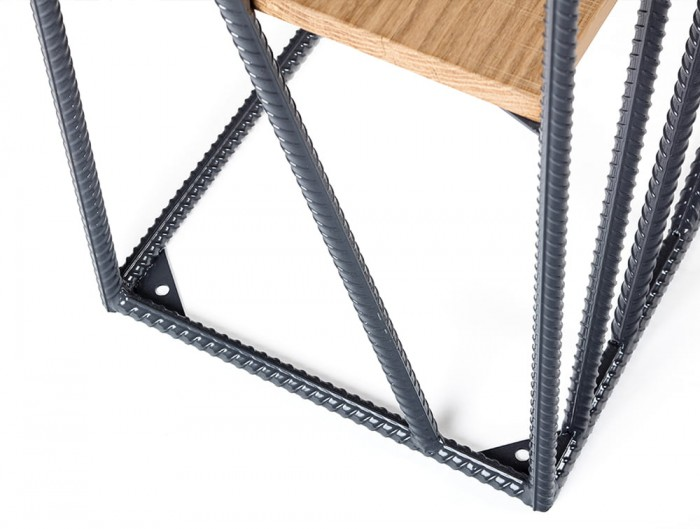 Foundry Rustic Wooden Shelves and Metal Frame