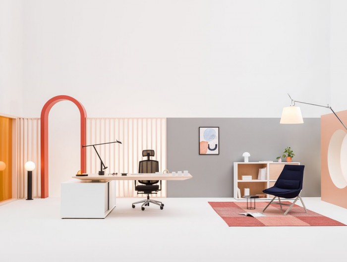 Frank-Comfy-Lounge-Armchair-with-Four-Legged-Base-in-Office