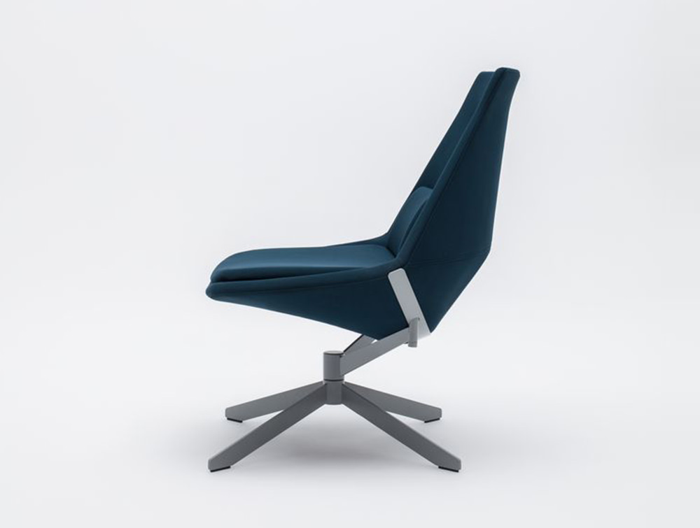 Frank-Comfy-Lounge-Armchair-with-Swivel-Base-Side-View