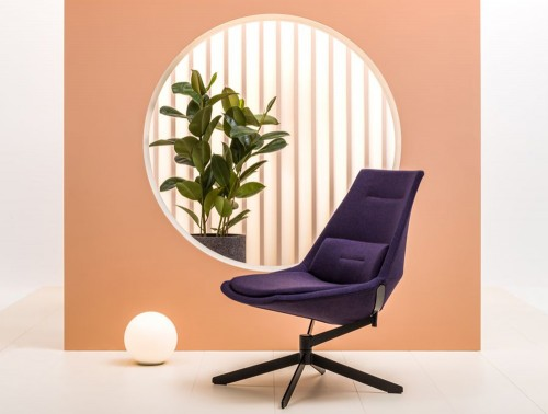 Frank-Comfy-Lounge-Armchair-with-Swivel-Base-with-Purple-Upholstery-and-Black-Swivel-Base