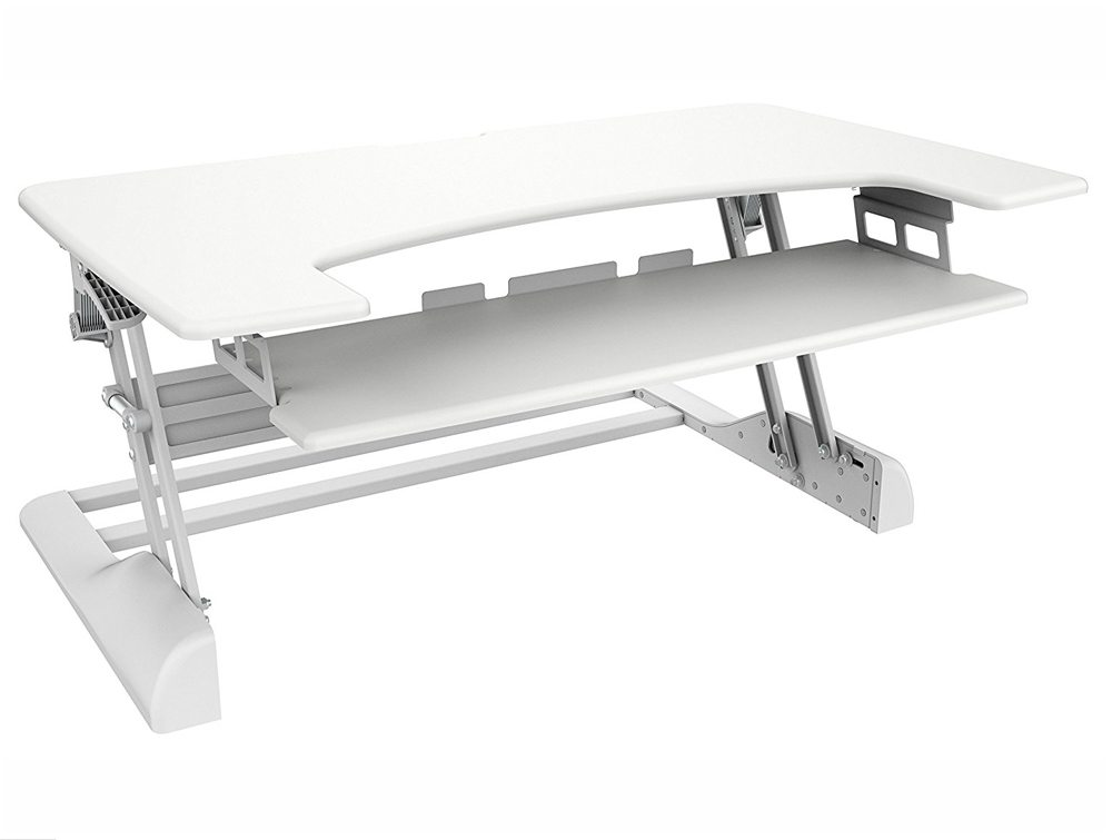 Freedom Desk Height Adjustable Work Surface - White - 1049 x 637mm