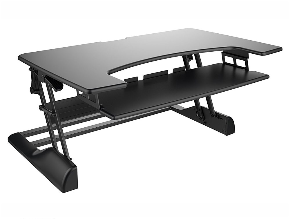 Freedom Desk Height Adjustable Work Surface - Black - 1049 x 637mm