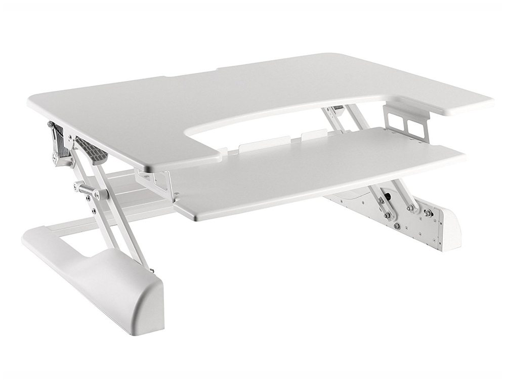 Freedom Desk Height Adjustable Work Surface - White - 900 x 637mm