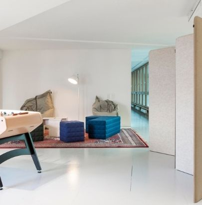 Freestanding Acoustic Screens in Breakout Area