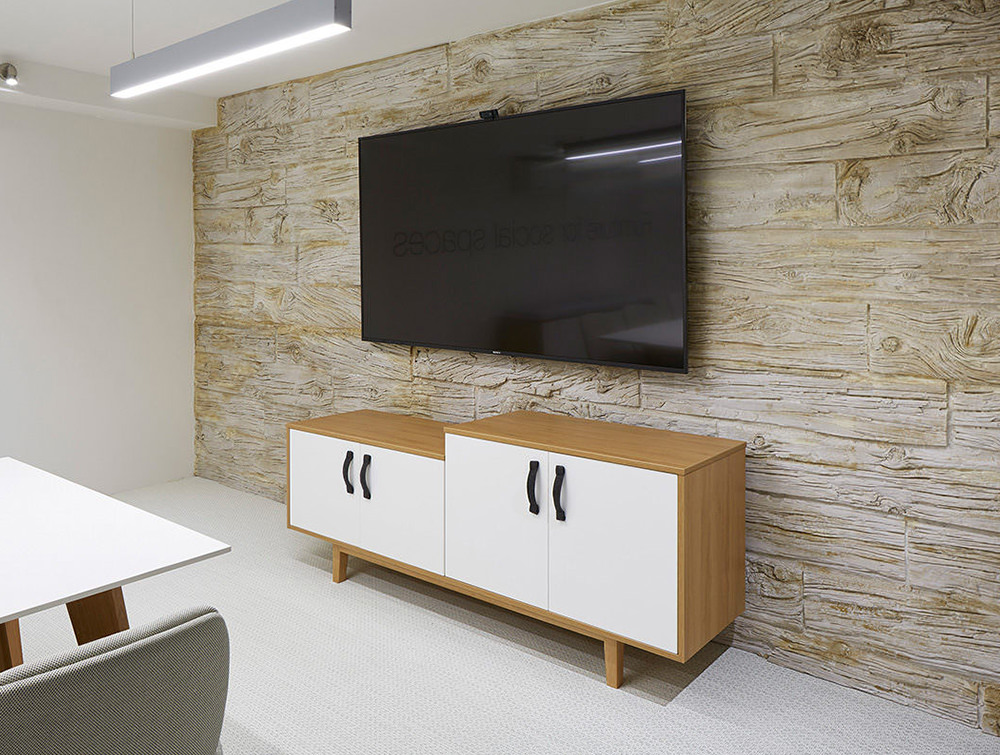 Frovi-Jig-Credenza-Low-High-Storage-Unit-with-Wood-Cabinet-Finish-with-White-Doors-in-Office-Meeting-Room