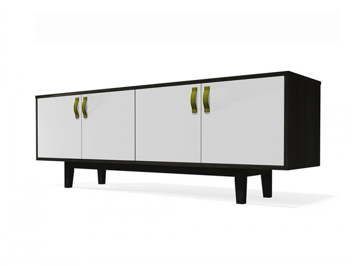 Frovi-Jig-Credenza-Low-Storage-Unit-with-Black-Oak-Cabinet-and-White-Doors