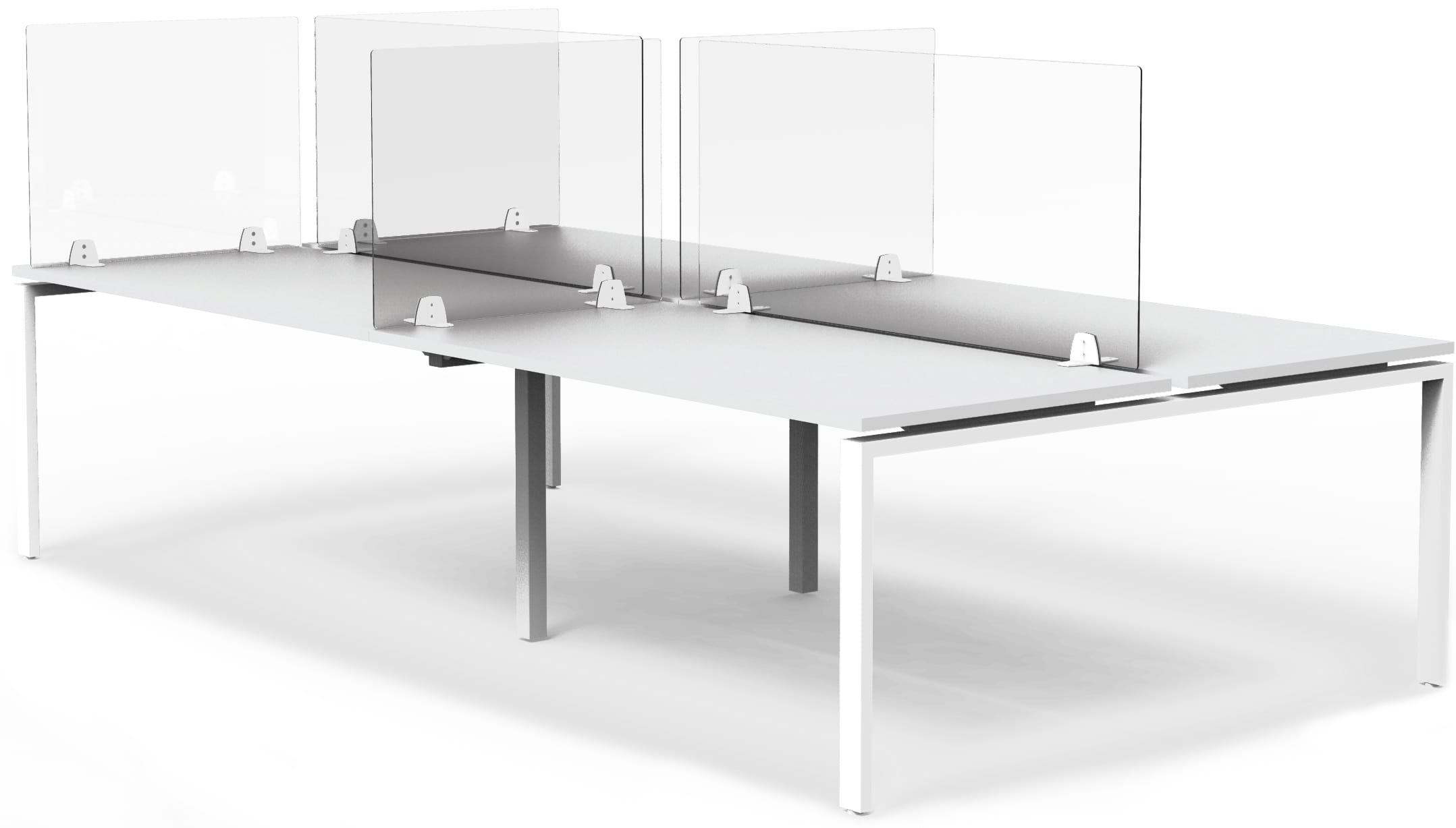 Full Acrylic Desk Sneeze Shields Screens for Open Plan Offices