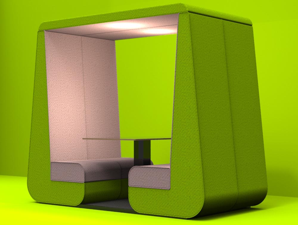 Funky Meeting Pod 2 Seater in Green